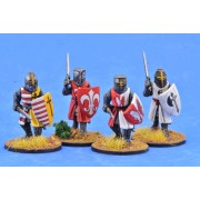 Crusading Foot Knights (Great Helms) (Advancing) pas cher
