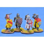 Crusading Foot Knights (Great Helms) (Attacking) pas cher
