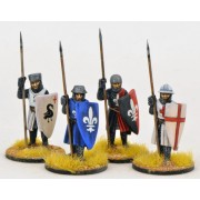 Crusading Foot Knights (Open Helms) (Standing) pas cher