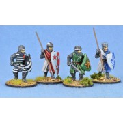 Crusading Foot Knights (Open Helms) (Advancing) pas cher