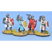 Crusading Foot Knights (Open Helms) (Attacking) pas cher