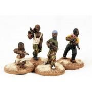African Militia - AK47s & Rifle pas cher