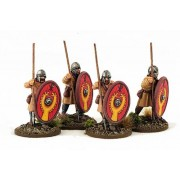 Late Roman Unarmoured Infantry (Helmets) (Advancing) pas cher