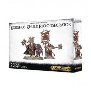 Age of Sigmar : Khorne Bloodbound - Korghos Khul & Bloodsecrator pas cher