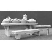Feasting Table, Benches and Tableware pas cher