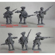 British Regular Infantry 60th Foot – Sergeants & Characters pas cher