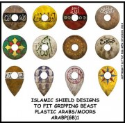 Islamic shield design 1 (Gripping Beast) plastic Arab miniatures pas cher