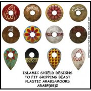 Islamic shield design 2 (Gripping Beast) plastic Arab miniatures. pas cher