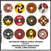 Arthurian Nobles Shield Designs to fit Gripping Beast Miniatures