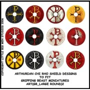 Arthurian Shield Designs to fit Gripping Beast Miniatures