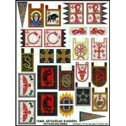 15mm Arthurian Banners pas cher