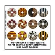 Breton Round Shield Designs 1 (Gripping Beast)