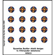 Byzantine Buckler Shield Designs 1 (Crusader) pas cher