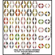 15mm Celtic Shield Designs (Xyston) pas cher