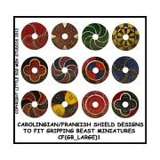 Carolingian / Frankish Shield Designs (Gripping Beast) pas cher