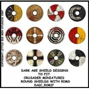 Dark Age Shield Designs 7 (Crusader) pas cher