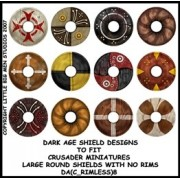 Dark Age Shield Designs 8 (Crusader) pas cher