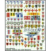 15mm Medieval Pennants, Barding and Shields pas cher