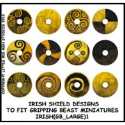 Irish Shield Designs 1 (Gripping Beast) pas cher