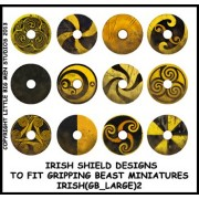 Irish Shield Designs 2 (Gripping Beast) pas cher