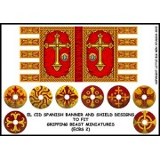 El Cid Spanish Banner and Shield Designs (Gripping Beast) pas cher