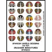 Spanish Shield Designs 1  (Crusader) pas cher