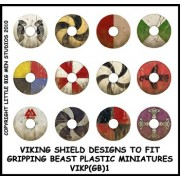Viking Shield Designs 1 (Gripping Beast)