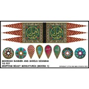Moorish Banner and Shield Designs (Gripping Beast)