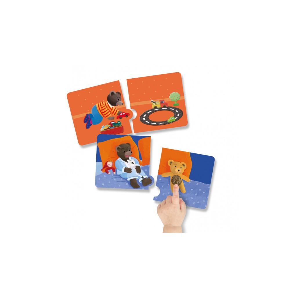 petit ours brun mon premier puzzle toucher les. Black Bedroom Furniture Sets. Home Design Ideas