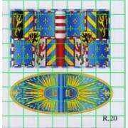 Burgundian Flags 1 (28mm) pas cher