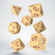 Dice Set - Classic RPG Beige & Burgundy