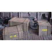 Wooden Crates Set 2 pas cher