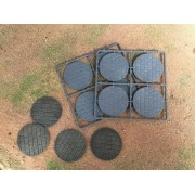 60mm Diameter Paved Effect Bases pas cher