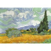 Maxi Puzzle Bois - 250 Pièces - Wheat Field with Cypresses