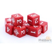 Sins RPG - Dice Set : Red