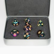Metal Dice Set - Rainbow Colors