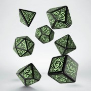 Dice Set - Celtic 3D Revised : Black Green