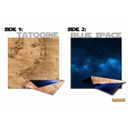 Playmats - Latex - Unique double sided Tatooine/Blue Space - 36''x36''