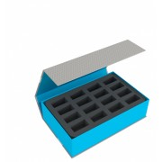 Feldherr Magnetic Box blue for 32 miniatures