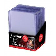 """Toploader - 3"""" x 4"""" Thick Clear Regular (25 pieces)"""
