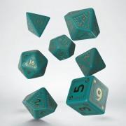 RuneQuest Turquoise & Gold Dice Set pas cher