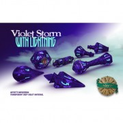 Polyhero Dice Wizard Set - Violet Storm with Lightning pas cher