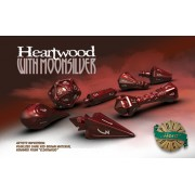 Polyhero Dice Wizard Set - Heartwood with Moonsilver pas cher